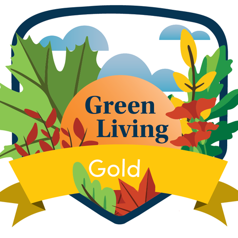 Background for the 'Green Living Certification' link block