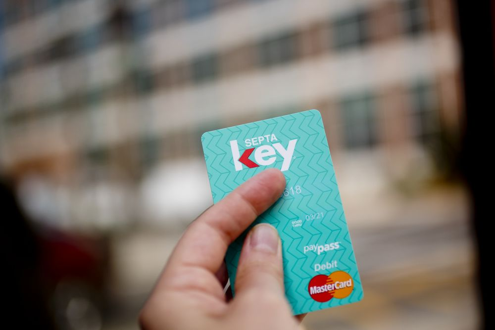 Picture of hand holding SEPTA key card.