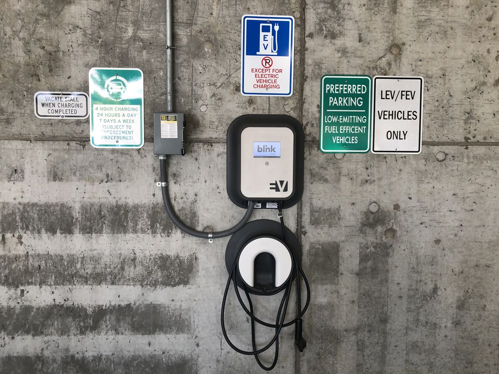 Picture of electric vehicle charger