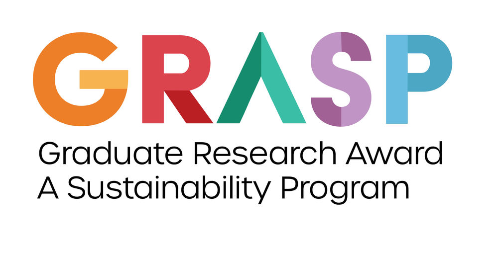 GRASP logo.  Brightly colored letters in an Art Deco design.