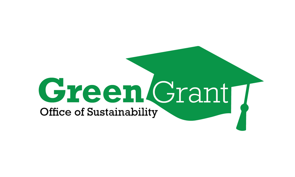 Logo for Green Grant - a green graduation cap with block lettering