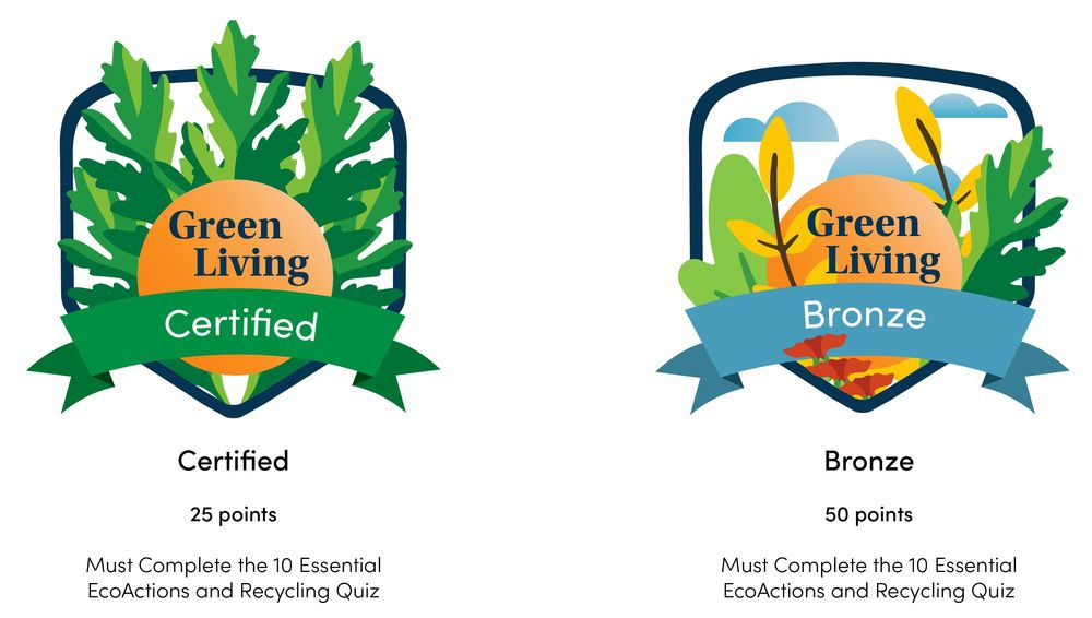 Two Room badges, certification levels : certified and bronze